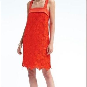 Banana Republic Limited Edition orange lace dress